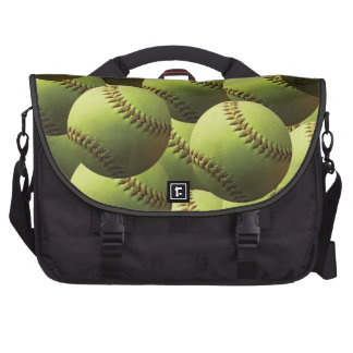 Yellow Softball Wallpaper Bags For Laptop