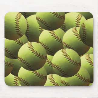 Yellow Softball Wallpaper Mouse Pads