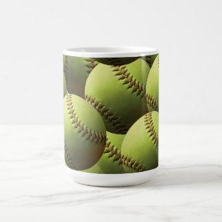 Yellow Softball Wallpaper Mug