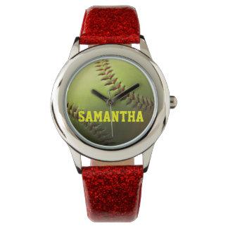 Yellow Softball Watch