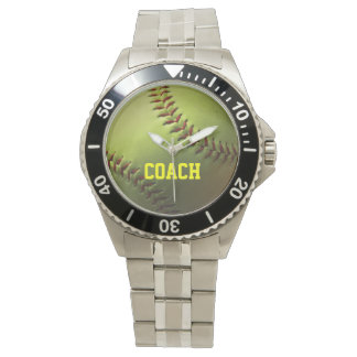 Yellow Softball Watch