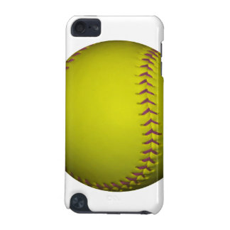 Yellow Softball With Purple Stitches iPod Touch (5th Generation) Covers