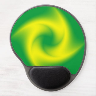 Yellow Spiral on Green Gel Mouse Pad