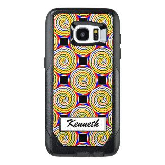 Yellow Spirals by Kenneth Yoncich OtterBox Samsung Galaxy S7 Edge Case