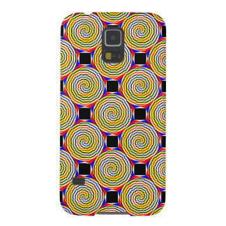 Yellow Spirals Galaxy S5 Cases