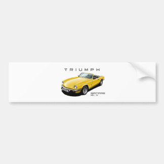 Yellow Spitfire Bumper Sticker