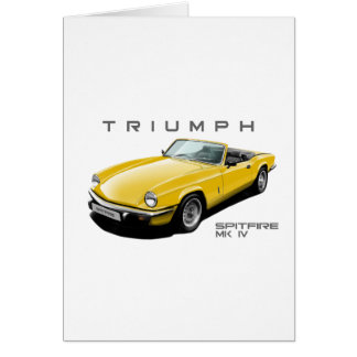 Yellow Spitfire Card