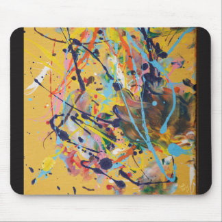 Yellow Splat Painting Mouse Mat