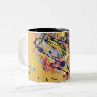 Yellow Splat Painting Mug