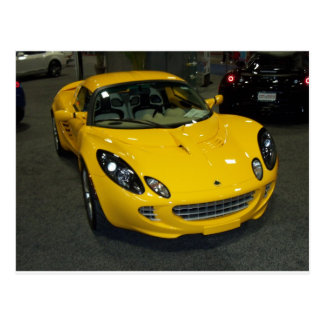 Yellow Sports Car Postcard