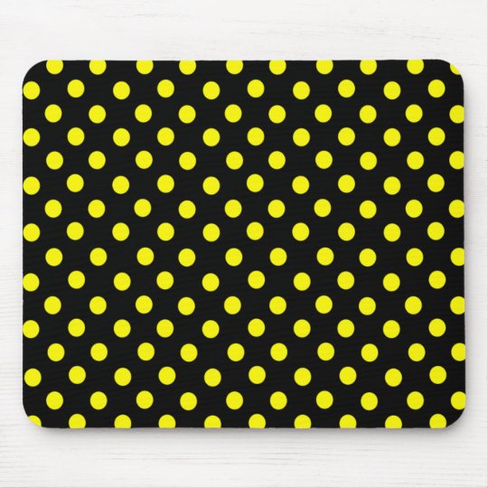 Yellow Spot Polka Dot Mousepad