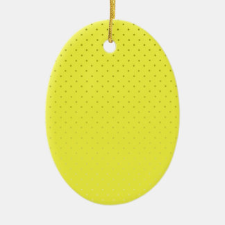 Yellow Spotted Backdrop Ceramic Oval Decoration