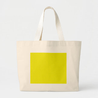 Yellow Spotted Backdrop Large Tote Bag