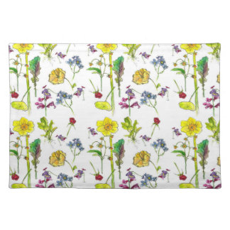 Yellow Spring Daffodil Botanical Watercolor Art Placemats