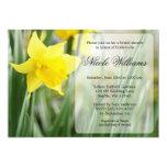 Yellow Spring Daffodil Bridal Shower 13 Cm X 18 Cm Invitation Card