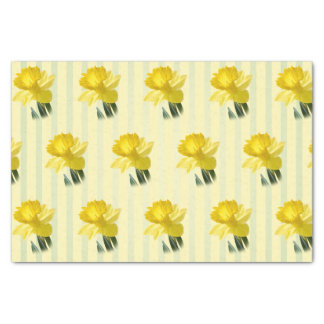 Yellow Spring Daffodil Floral Photography Pattern Tissue Paper