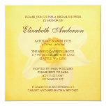 Yellow Spring Daffodil Flower Bridal Shower 13 Cm X 13 Cm Square Invitation Card