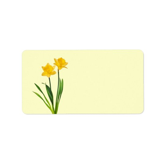 Yellow Spring Daffodils - Daffodil Template Address Label