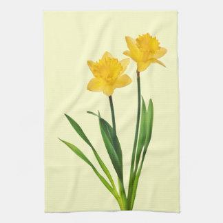 Yellow Spring Daffodils - Daffodil Template Tea Towel