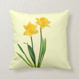 Yellow Spring Daffodils - Daffodil Template Throw Pillow