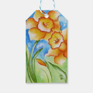 Yellow Spring Daffodils Thank You Gift Tags