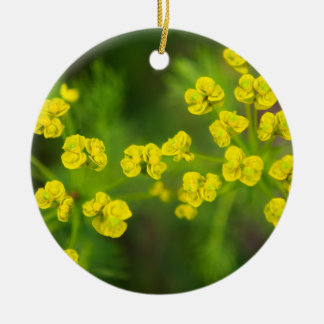 Yellow Spring Flowers Christmas Ornament