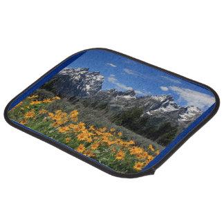 Yellow Spring Flowers Grand Teton Nat l Park Floor Mat