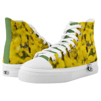 Yellow Spring Printed Shoes
