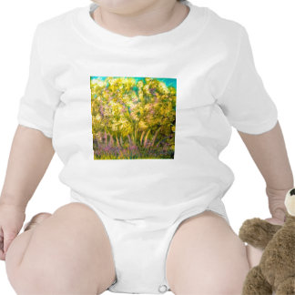 Yellow Spring Trees Design Baby Creeper