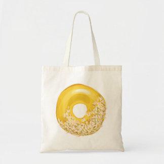 Yellow Sprinkled Doughnut. Tote Bag
