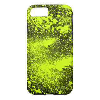 yellow stains on black background iPhone 7 case