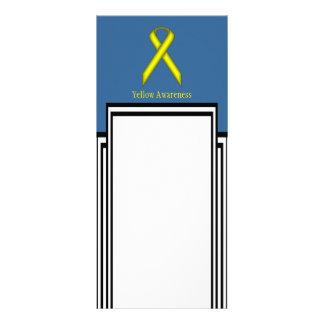 Yellow Standard Ribbon 10 Cm X 23 Cm Rack Card