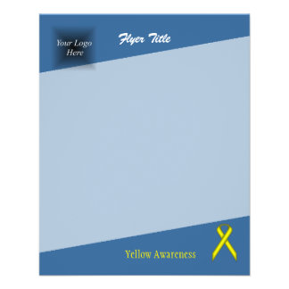 Yellow Standard Ribbon 11.5 Cm X 14 Cm Flyer