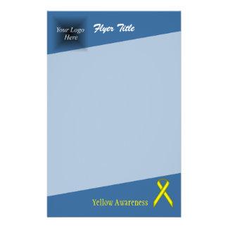 Yellow Standard Ribbon 14 Cm X 21.5 Cm Flyer