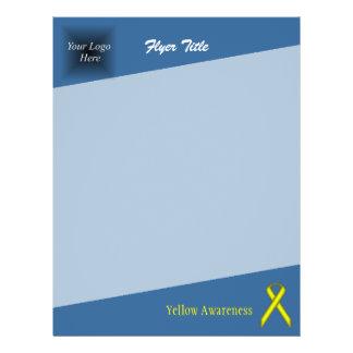 Yellow Standard Ribbon 21.5 Cm X 28 Cm Flyer