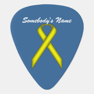Yellow Standard Ribbon by Kenneth Yoncich Plectrum