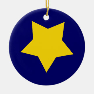 Yellow Star Christmas Ornament