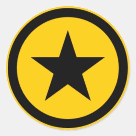 yellow Star Classic Round Sticker