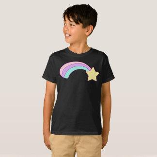 Yellow Star Colourful Rainbow Streak Kids T-Shirt