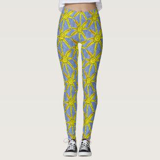 Yellow star leggings