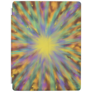 Yellow Star Multicoloured Abstract Art Painting iPad Cover