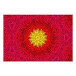 Yellow Star on Red Mandala