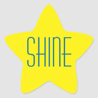Yellow Star Shine stickers
