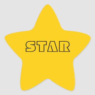 Yellow Star Star Sticker