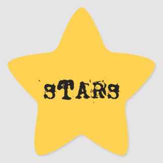 Yellow star with the word stars star sticker
