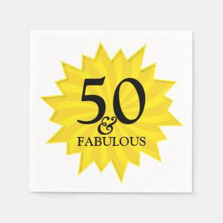 Yellow Starburst Fabulous and 50 Paper Napkin