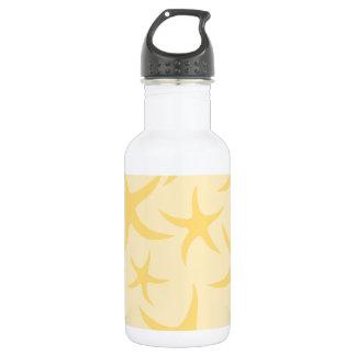 Yellow Starfish Pattern. 532 Ml Water Bottle