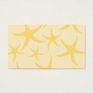 Yellow Starfish Pattern. Business Card