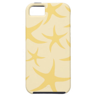 Yellow Starfish Pattern. Case For The iPhone 5