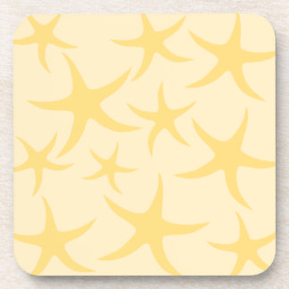 Yellow Starfish Pattern. Coaster